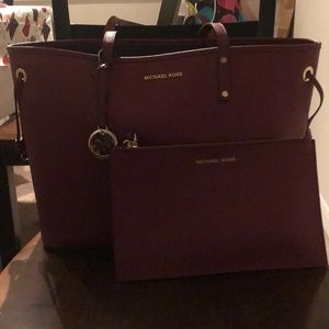 Michael Kors large tote with wristlet